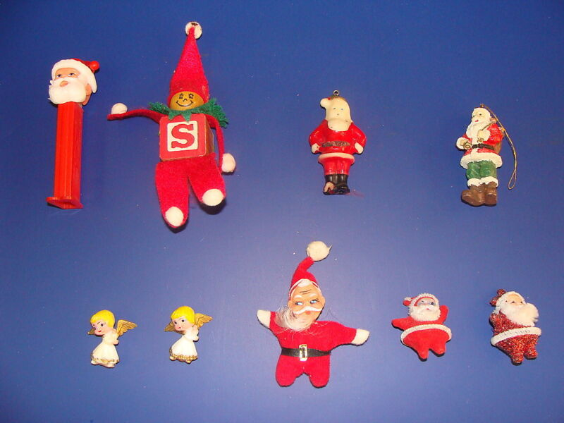 (Lot of 9) Vintage Santa Claus Collectibles