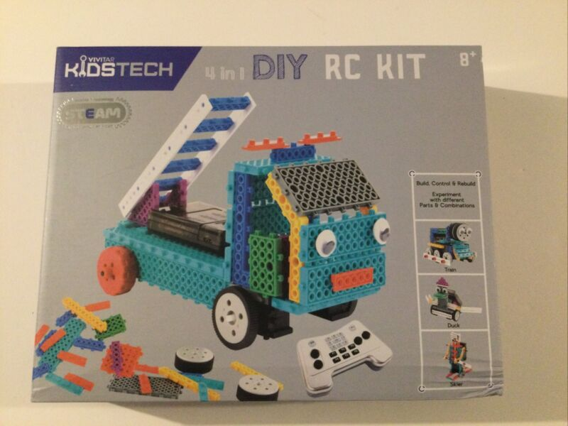 Vivitar KidsTech 4-in-1 RC Construction Vehicles Kit VA90034