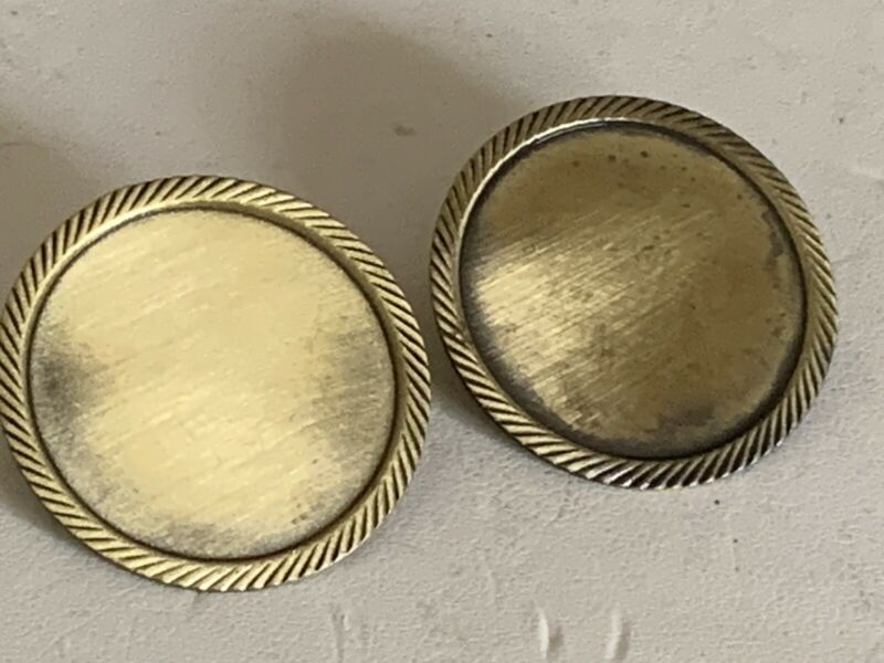 SALE**(LOT OF 2) VINTAGE BRASS 25 MM CABOCHON/CAMEO BROOCH SETTING-NEW