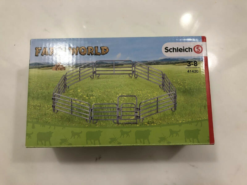 Schleich #41420 Farm Life Corral Fence New in Box Discontinued