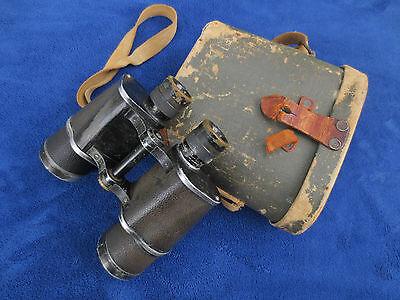 Rare Ww2 Original Japanese Military Binoculars And Case