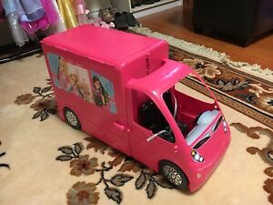 Barbie dream house trailer bus