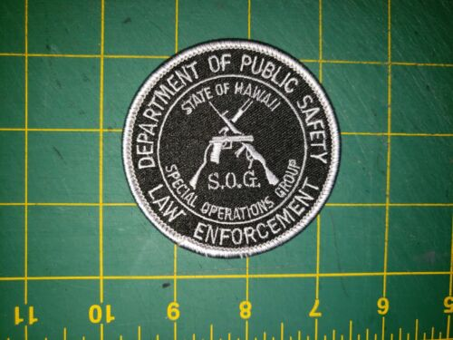 HAWAII SHERIFF POLICE PATCH STATE SOG SPECIAL OPERATIONS GROUP PUBLIC SAFETY HI