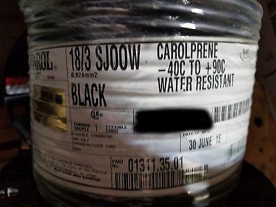 Carol 01311 183c Carolprene Sjoow 300v 90c Portable Power Cable Cord Black50ft
