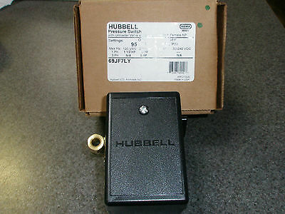 69jf7ly Furnas Hubbell Air Compressor Pressure Switch 95-125 Psi Old 69mb7ly