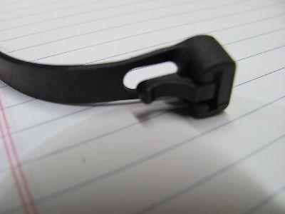 """50 10"""" Black Reusable Releasable Zip Tie Cable Wrap Strap"""