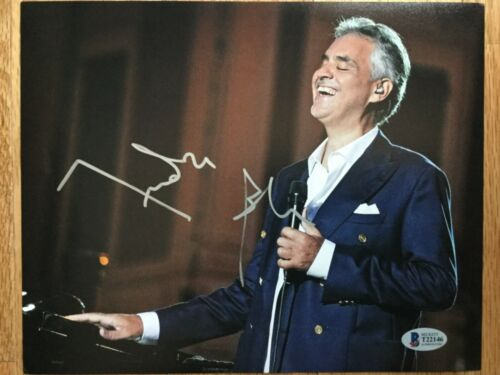 ANDREA BOCELLI SIGNED AUTOGRAPHED AUTO 8 X 10 PHOTO BECKETT BAS AUTHENTICATED