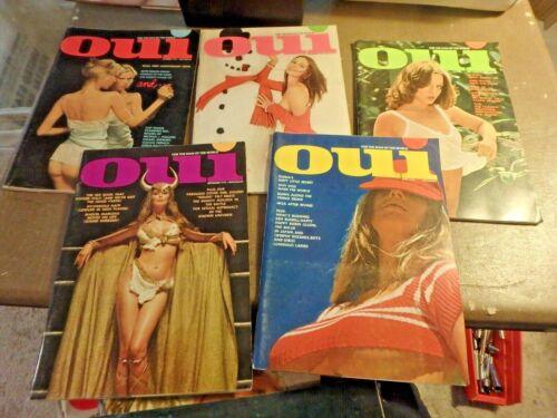 bundle of 15 OUI mens magazines 1972,1973 & 1974