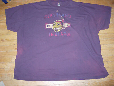 1940s Men's Shirts, Sweaters, Vests RARE & HUGE 6X Cleveland Indians 1940s CHIEF WAHOO Stress Design T-Shirt,AWESOME $36.10 AT vintagedancer.com