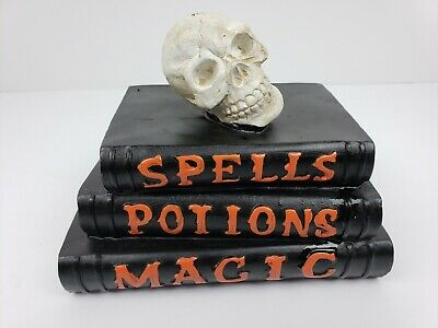 Witch spells/potions/magic books and Skull Halloween Table Top Decor - Witch Spells Halloween