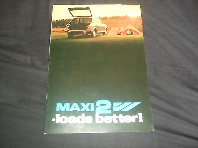 Austin Morris Maxi 2 Brochure