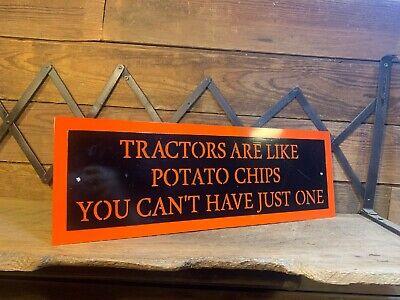 Metal Tractor Sign Potato Chips Allis Chalmers Farm Dealer D17 Wd 45 Ford Deutz