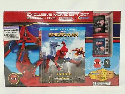 Spider-Man Homecoming Gift Set Blu-Ray DVD Digital Mashems New (Spider Man Homecoming Special Edition Blu Ray)