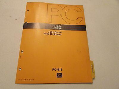John Deere Pc-918 Bulldozer 6400 Parts Catalog Manual
