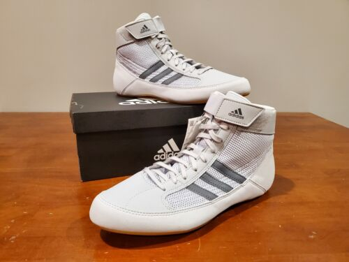 Adidas HVC Mens Gray Wrestling MMA Combat Sports Shoes