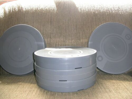 FIVE- 35mm 1000ft OR 800ft 16mm DOUBLE Plastic CANS - NEW ARCHIVAL