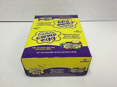 CADBURY Milk Chocolate Creme Easter Candy 1.2 Oz, Full Size Eggs, 48 Count, 2020