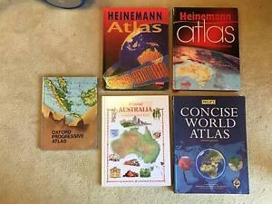 Bulk Set 5 World Map Atlas Encyclopedia Educational Books Child Scoresby Knox Area Preview