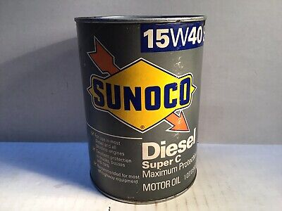 Vintage Sunoco Diesel Oil Can Lube gas rare tin handy Sinclair Skelly Gulf Shell