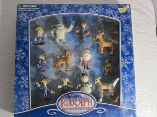 RUDOLPH the red nosed REINDEER Holiday Clip-On CHRISTMAS TREE Ornaments - Used
