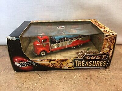 """100% Hot Wheels """"LOST TREASURES """" 2 Car SET 1/64 W/Case and unopened"""