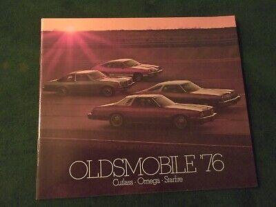 1976 OLDSMOBILE CUTLASS OMEGA STARFIRE Original Dealer Sales Brochure ~ #961