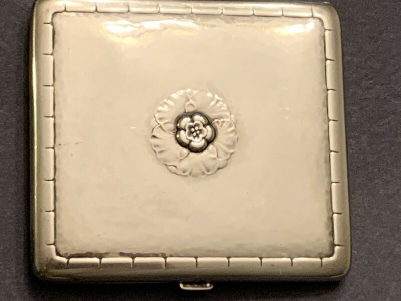 Georg Jensen Denmark - Sterling Silver Cigarette Case - 123 grams