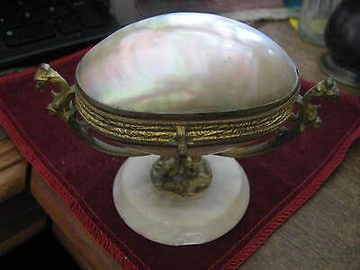 Palais Royal Napoleon III Grand Tour MOTHER OF PEARL DORE BRONZE ALABASTER Box