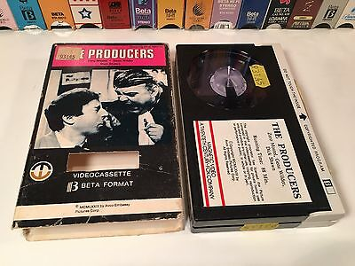 * The Producers Comedy Betamax NOT VHS 1967 Mel Brooks Gene Wilder Magnetic Beta