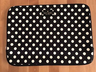 Kate Spade Laptop 14 inch Laptop Case Sleeve Black & White Spots