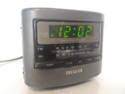 Aiwa Radio Reciver Model No. FR-A45U AM/FM Alarm Clock Radio Tested WORKS GREAT