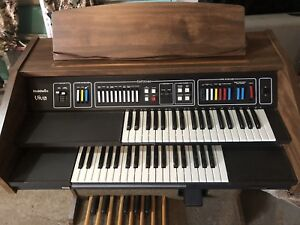 Electric organ with pedals double keyboard