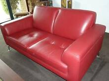 "Red Leather Sofas - Pair of Stunning 2 seat ""Jaegar"" Swanbourne Nedlands Area Preview"