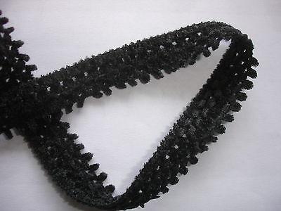 5m Wollborte 0,50€/m schwarz 1,8cm breit K10.2