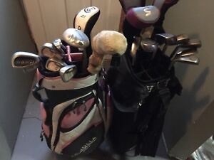 3 golf sets and shoes