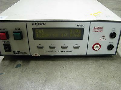 Associated Research 3500d Hypot Ii Tester Testing Instrument