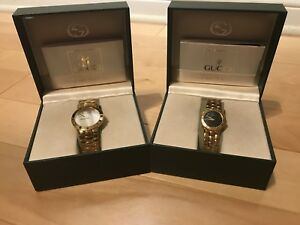 Authentic Ladies and Men's Gucci Gold Plated Watches