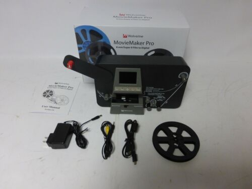 "Wolverine Data MovieMaker PRO 8mm and Super 8 Converter - Up to 9""Reels- 1080p-B"