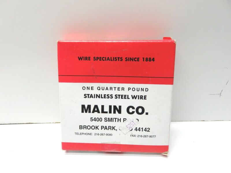 Malin CO. Stainless Steel Wire Size  Dia .033 Wire Specialists