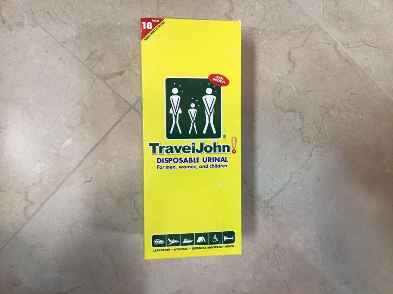 TravelJohn 66892 Disposable Urinal 18 pack WHITE Travel John Camping