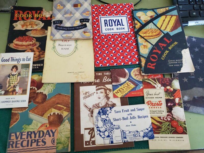 Lot of 11 vintage recipe booklets Nestles, Arm & Hammer etc.1930