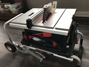 """Bosch 10"""" table saw with gravity stand"""