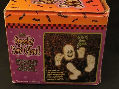 VINTAGE HALLOWEEN PLAYTRONIX LIGHT UP SPOOKY YARD GHOUL WITH SOUND YARD DECOR