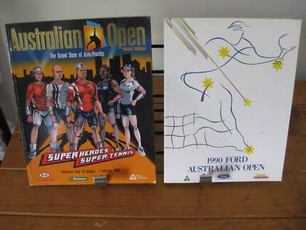 Australian Open Tennis - Official Programs(1990 And 2004) VG Cond