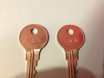 2 Steelcase Master Keys Works Codes Fr301 Thru Fr800 File Cabinets With Dimple