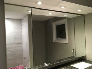 Mirror with built in medicine cabinets