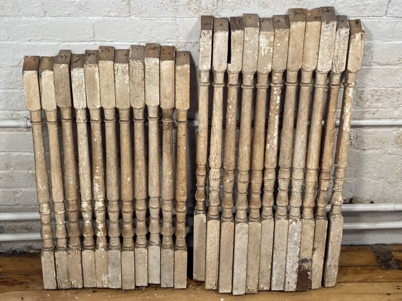 22 Antique Balusters, Spindles ~ Staircase, Turned Architectural Balusters