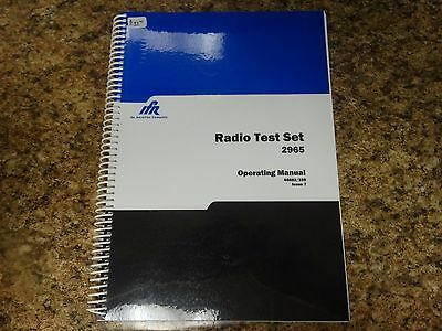 Ifr Radio Test Set 2965 Operating Manual