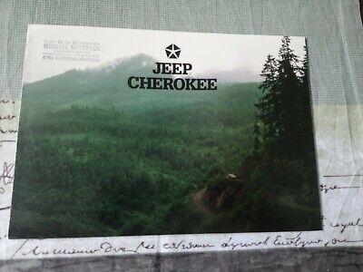 Usado, Original Prospekt Jeep Cherokee XJ 4.0Litre (uralt!)  ***rare***  039 segunda mano  Embacar hacia Mexico