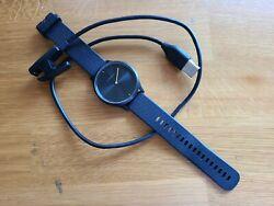 Garmin vívomove HR Sport Black Large,  Hybrid Smart Watch w/ Touchscreen
